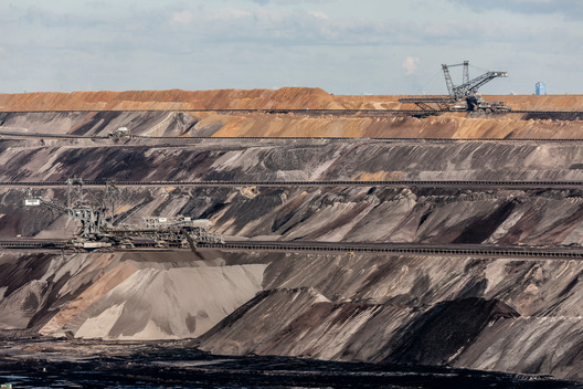 Lignite Surface Mining at Garzweiler  in Germany