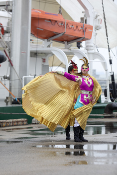 Rainbow Warrior Welcome in Taiwan: Open Boat in Anping Port