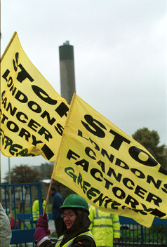 Action at Edmonton Incinerator in London