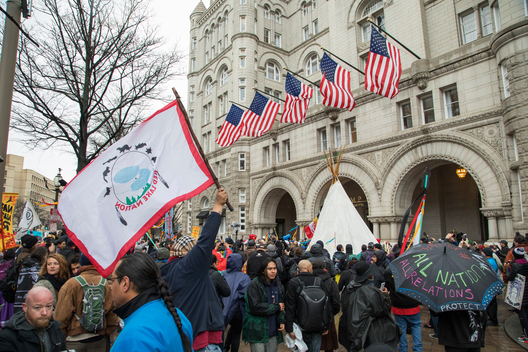 Thousands Rally in Support of Native Nation in Washington D.C.