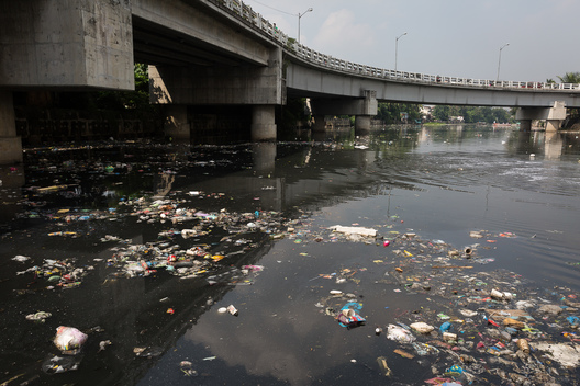 Rubbish Pollution in the Pasig River in Manila
