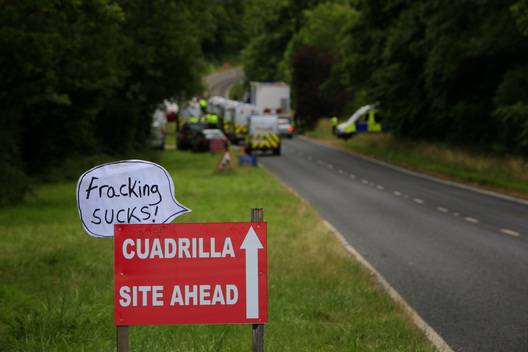 Hydraulic Fracking Protest in England