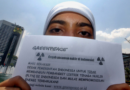 Climate Action against George Bush in Indonesia