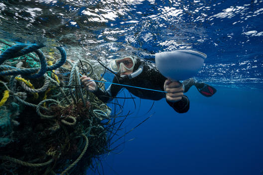 Ghosts Fishing Nets in the Great Pacific Garbage Patch