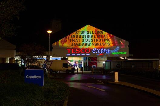 Projection Warns Tesco to Stop Selling Industrial Meat in UK