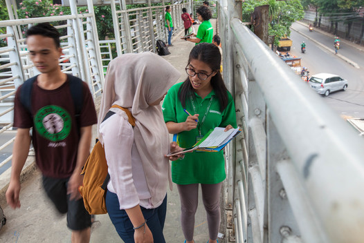 Greenpeace Indonesia DDC Team on the Streets of Jakarta