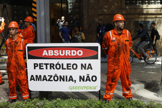 Protest against Oil Exploration in the Amazon in Brazil