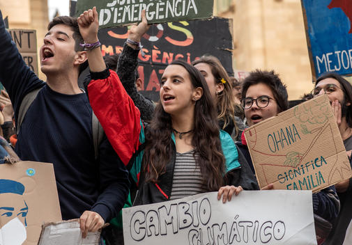 Fridays for Future Student Demonstration in Barcelona