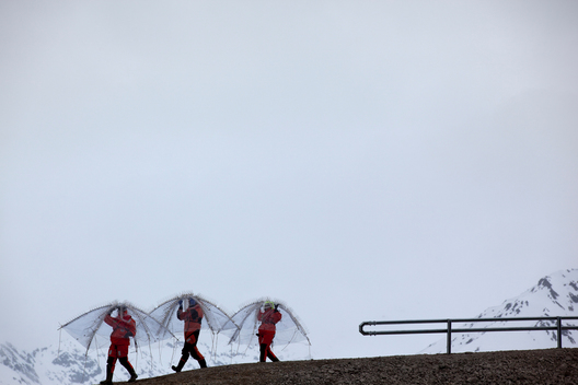 Scientists Experimenting in Svalbard