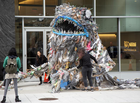Plastic Monster Visits Nestlé in Virginia