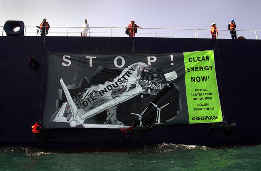 Toxics Action against Oil Tanker Bosphorus in Turkey