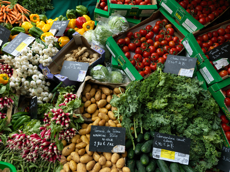 Ecological Produce at Farmers Market in Paris