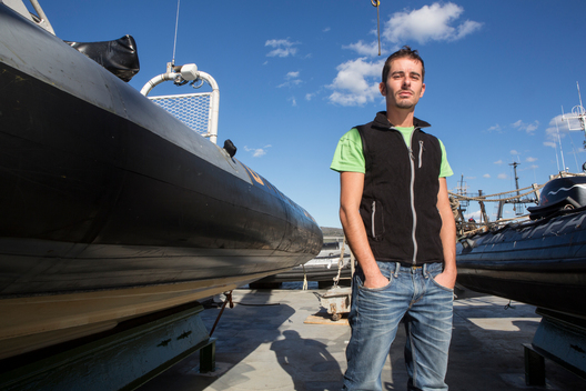 Cristian D'Alessandro on the Arctic Sunrise in Norway