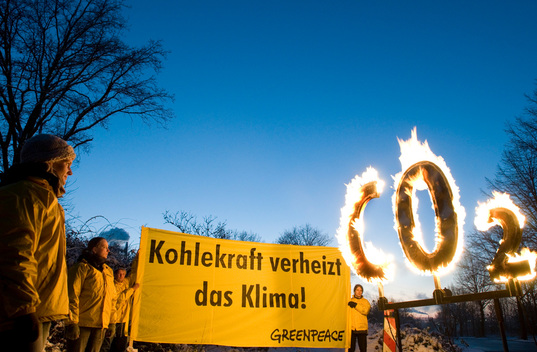 Protest against Coal Power Plant in Germany