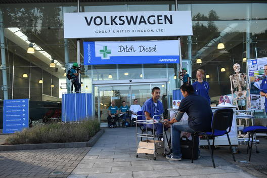 Medical Professionals Take Part in Greenpeace Protest against VW in UK
