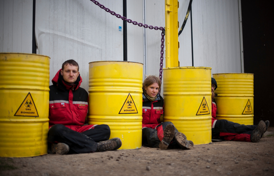 Greenpeace Blockade GMO Storage Facility in Northern Sweden