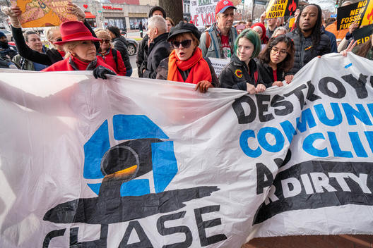 Fossil Fuel Funding Protest at Chase Bank in Washington D.C.