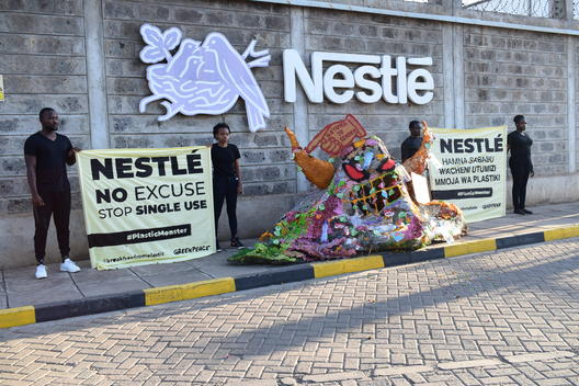 Plastic Monster Action at Nestlé Headquarters in Nairobi