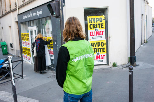 Poster Action Covering Parliamentary Offices in Paris