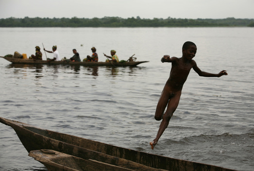 Boy Playing in Congo