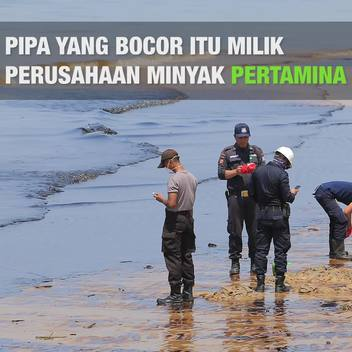 Oil Spill in Balikpapan, Indonesia Web Video (Square) Indonesian Version