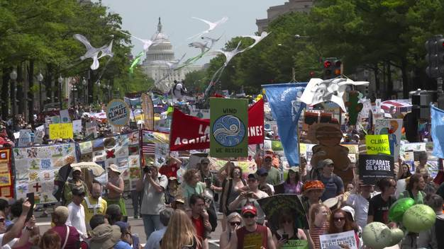 Peoples Climate March in Washington D.C. (VIDEO)