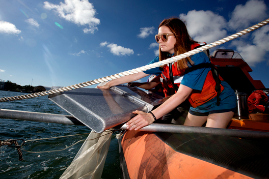 Actress Bonnie Wright Retrieves Trawling Gear in Miami