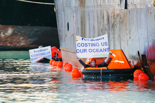 Activists Blockade Bottom Trawler in New Zealand Harbour