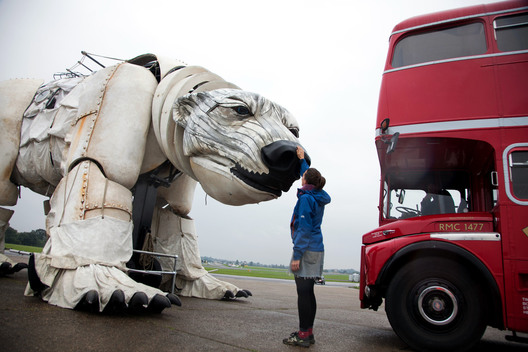 Giant Polar Bear Leads Arctic Protest in London