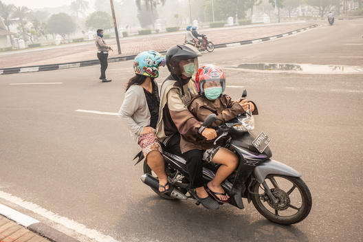 Haze from Forest Fires in Central Kalimantan