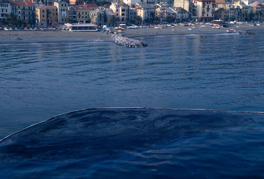 Oil Spill from Cypriot Oil Tanker HAVEN
