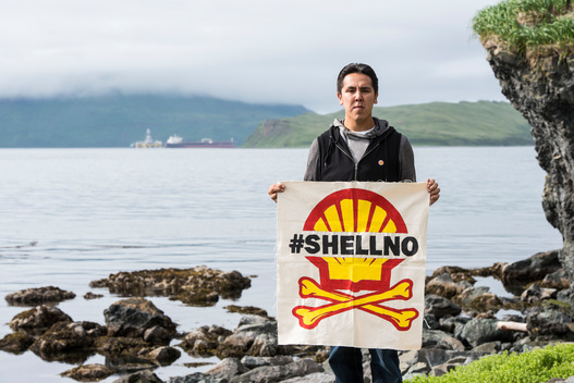Shell Protest in Unalaska