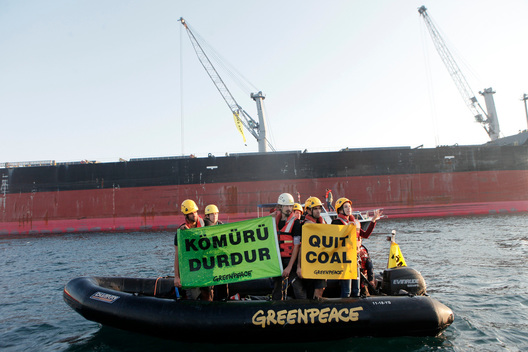 Protest at Eren Energy Coal Power Plant in Turkey