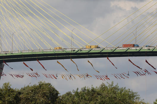 Climbers Block Houston Ship Channel Traffic in Texas