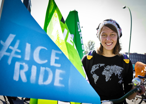 'Act for Arctic' Ice Ride in Berlin