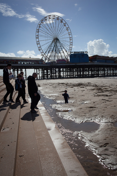 Blackpool Beach in the UK 2016