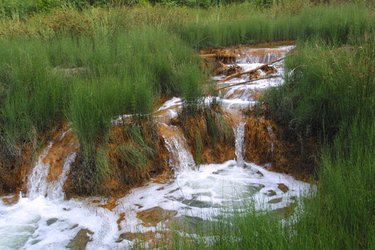 Water Running in a Tailing Pond in Baia Sprie