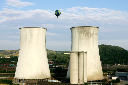 Hot Air Balloon at Charleroi Power Plant