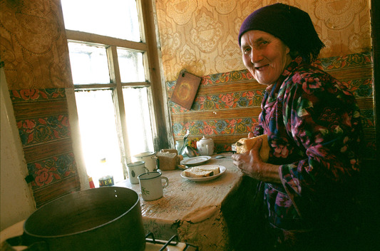 Inhabitant of Abandoned Village Kolschitchi