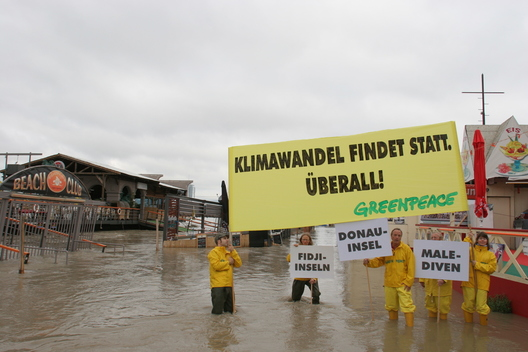 Climate Banners during Danube Flooding