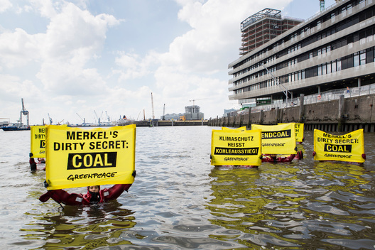 Protest against German Coal Politics in Hamburg