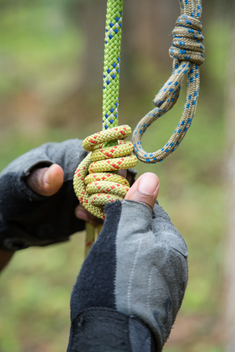 Climbing Rope on Atlantic Coast Pipeline Training Camp in Virginia