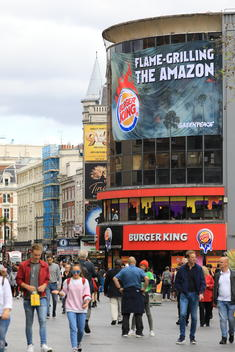 Burger King Flame Grilling the Amazon Action in London