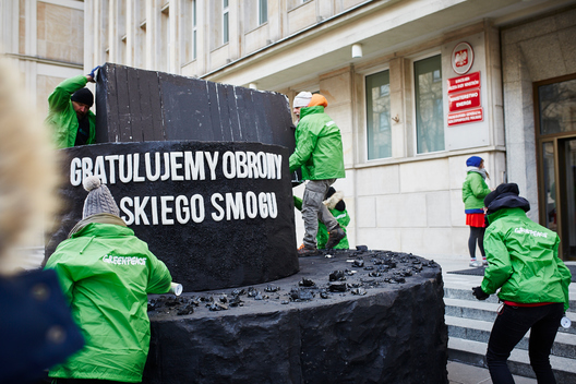 Coal Cake for the Polish Minister of Energy in Warsaw