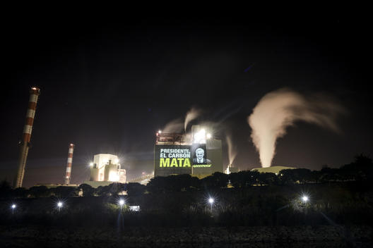 Projection against Coal at Puchuncavi´s Thermoelectric Plant in Chile