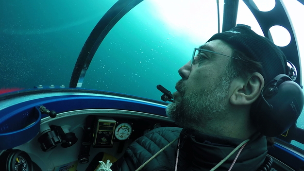 Actor Javier Bardem in Greenpeace Submarine in Antarctic Ocean - News Access