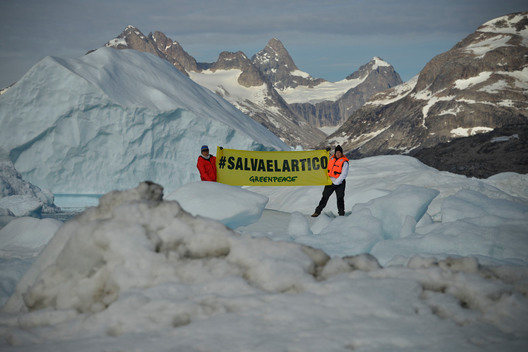 Save the Arctic Banner in Greenland