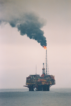BRENT SPAR oil platform, North Sea