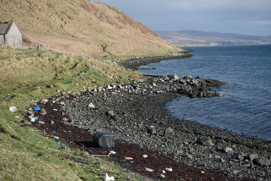 Plastic Waste on Beaches on the Isle of Skye
