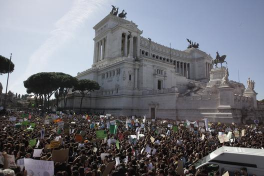 Fridays for Future Student Demonstration in Italy